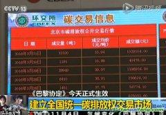 《巴黎协定》生效,央视报道聚焦北京碳市场建设