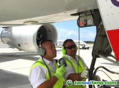 夏威夷航空给飞机接上高效外置电源来降低燃油使用 减少油耗及碳排放量