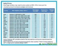 """各国减排承诺关键看碳价,那么碳价到底要多高才""""管用""""?"""