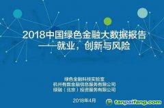中国首个绿色金融领域的大数据报告《2018绿色金融大数据报告:就业,创新与风险》全文发布(附下载地址)