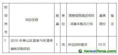 关于2018年浙江杭州市萧山区温室气体清单编制采购项目的招标公告