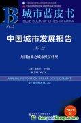 《城市蓝皮书:中国城市发展报告No.12》在京发布 回顾总结中国城市经济发展成就,推动城市经济高质量发展